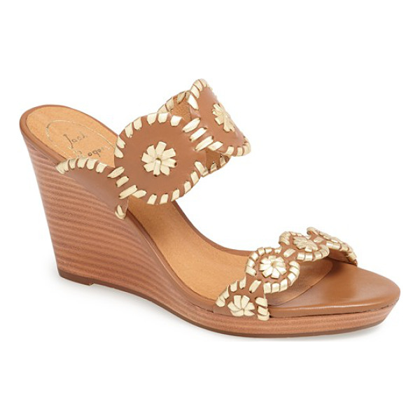JACK ROGERS luccia sandal - Whipstitched medallions lend easy style to a delectable...