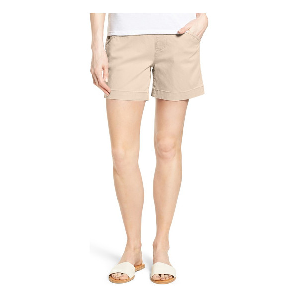 JAG JEANS ainsley pull-on stretch twill shorts - Pull-on styling with a high waistband creates a...