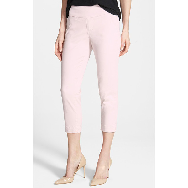 JAG JEANS hope slim crop pants - Available in a wardrobe of soft spring shades, casual crops...