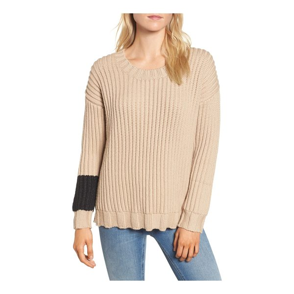 JAMES PERSE chunky armband sweater - Call it your cuff of power, a contrast band embraces one...