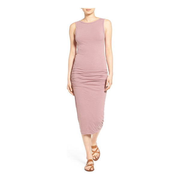 JAMES PERSE open back skinny maxi dress - Fine shirring ripples the sexy, curve-sculpting silhouette...
