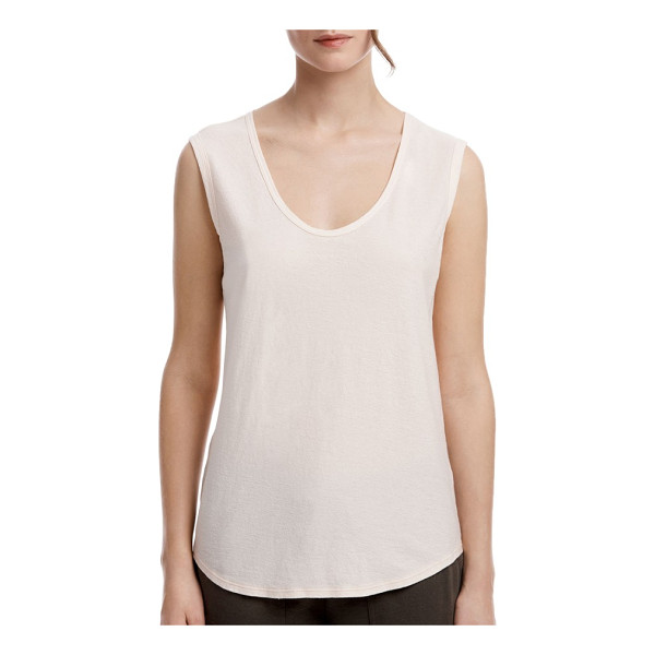 JAMES PERSE scoop neck tank - Garment washed for a supersoft, lived-in feel, this densely...