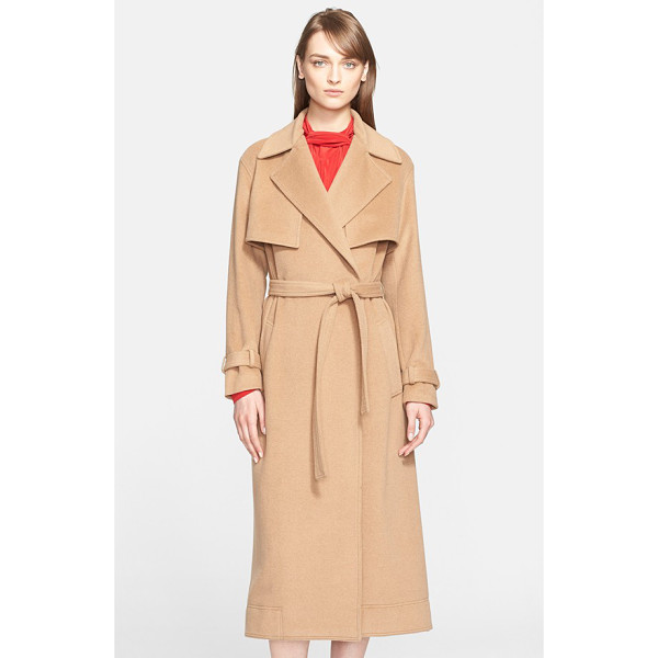 JASON WU camel hair trench coat - The quintessential trench gets an indulgent upgrade in...