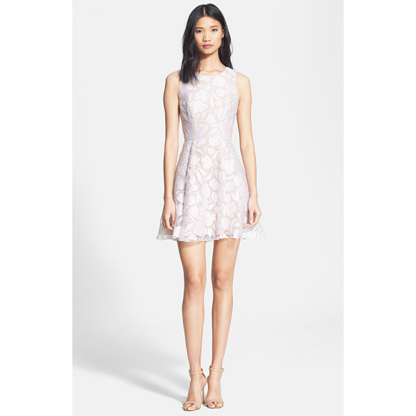 JAY GODFREY bautista floral burnout fit & flare dress - A fresh, full-skirted frock overlaid in gossamer...