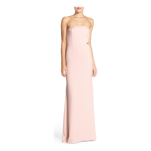 JAY GODFREY strapless cutout gown - A single architectural cutout enhances the contemporary...