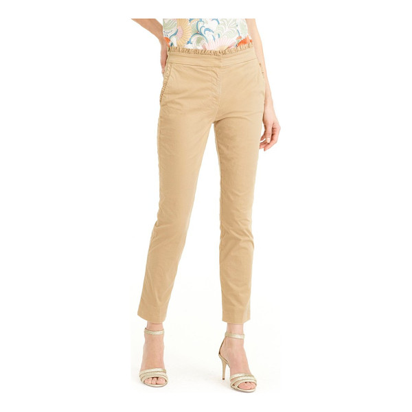 J.CREW ruffle crop chino pants - For a classic with a twist, J.Crew updates these favorite...