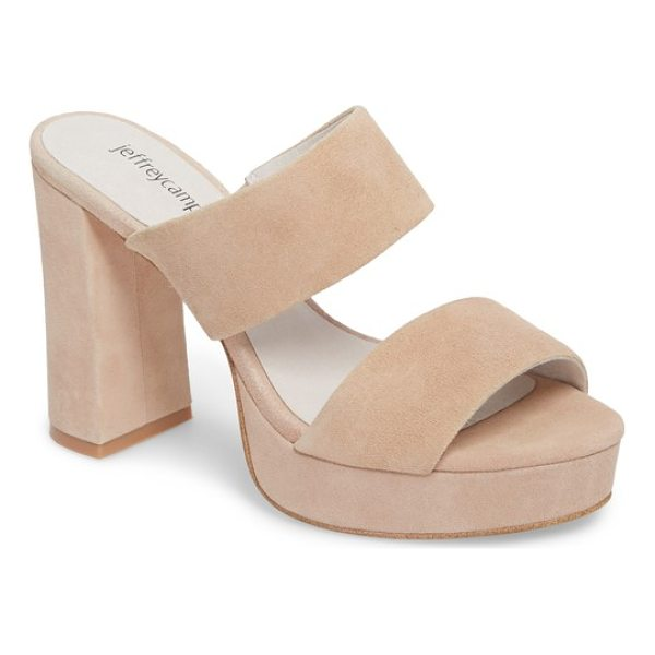 JEFFREY CAMPBELL adriana double band platform sandal - A chunky covered platform and block heel support a cleanly...