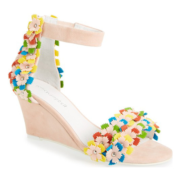 JEFFREY CAMPBELL aster-flr wedge sandal - Bright, stud-embellished flowers add three-dimensional...