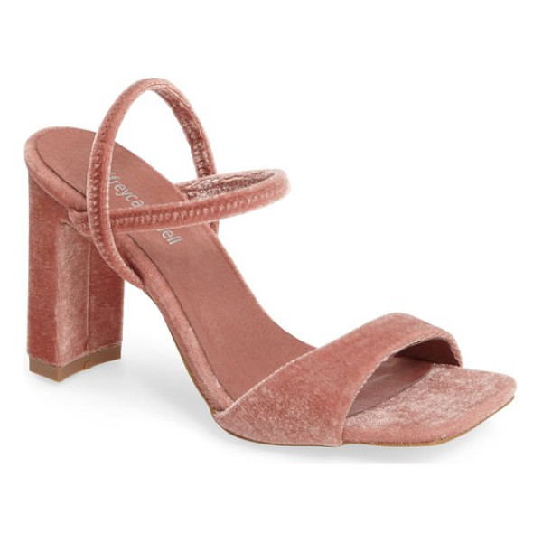 JEFFREY CAMPBELL carine square toe sandal - Jeffrey Campbell brings a dramatic angle to a...