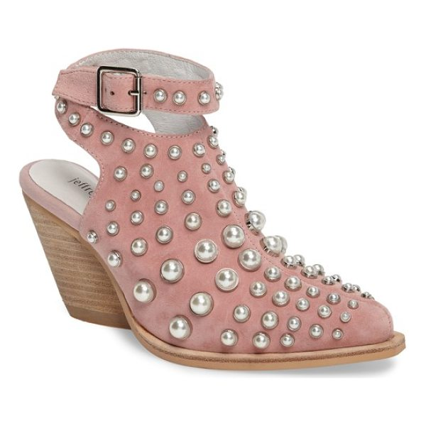 JEFFREY CAMPBELL jeffrey larkin embellished bootie - Imitation-pearl domed studs further the eye-catching drama...