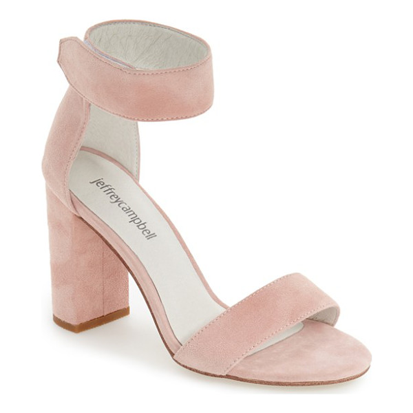 JEFFREY CAMPBELL lindsay ankle strap sandal - A chunky ankle strap extends the modern elegance of a...