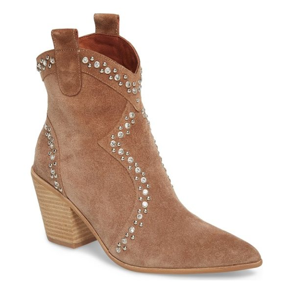 JEFFREY CAMPBELL nightwing crystal stud bootie - Crystal-centered studs punctuate the Western-inspired seams...