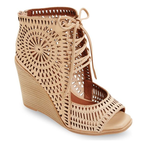 JEFFREY CAMPBELL rayos perforated wedge sandal - A celebration of angles and textures radiates brilliantly