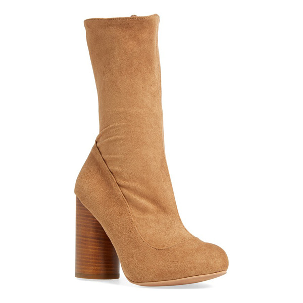 JEFFREY CAMPBELL sequel mid calf boot - A rounded, stacked heel amplifies the modern, street-savvy...