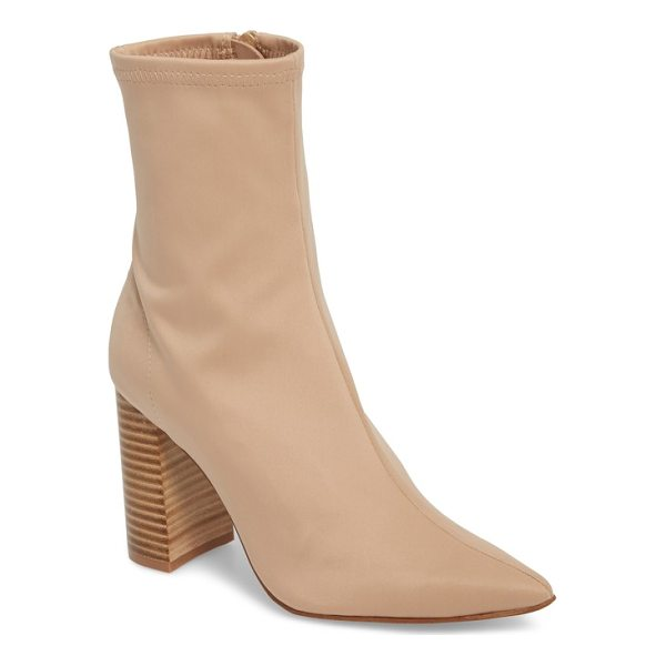 JEFFREY CAMPBELL siren bootie - Dial up the drama in a pointy-toe boot lofted by a flared...