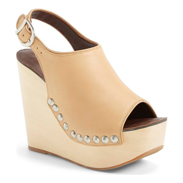 JEFFREY CAMPBELL snick platform sandal - Hammered studs detail a rich leather sandal designed with a...