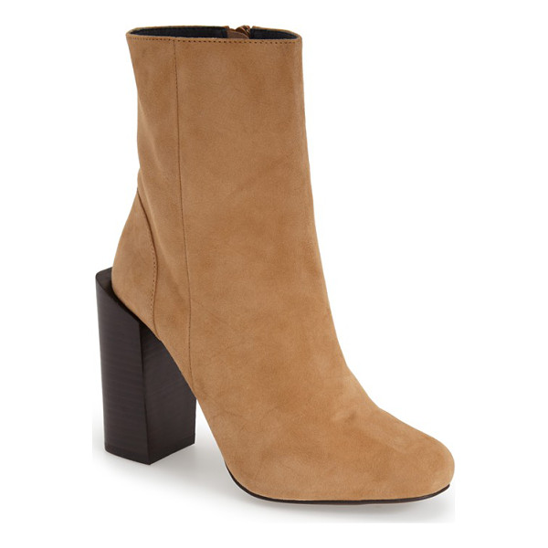 JEFFREY CAMPBELL stratford boot - An offset stacked heel adds an architectural element to a...