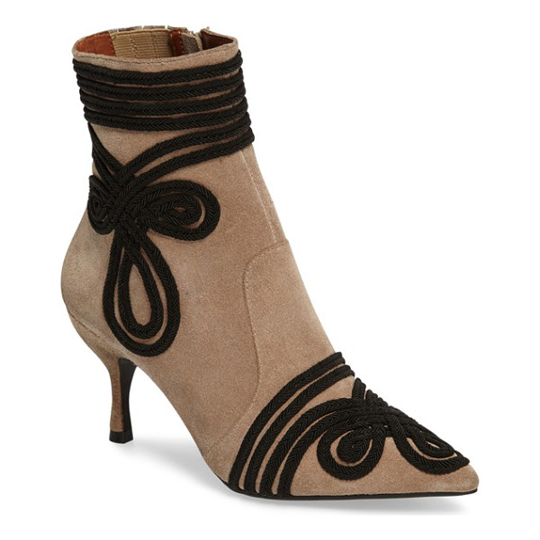 JEFFREY CAMPBELL twirl bootie - Swirling, elegant accents add to the sophistication of a...