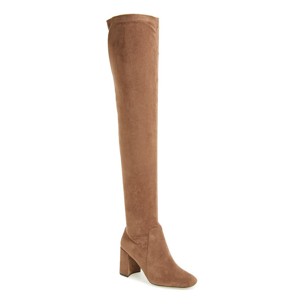 JEFFREY CAMPBELL 'cienega' over the knee boot - A square toe and a sculptural wrapped heel lend trend-savvy...