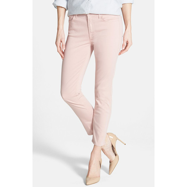 JEN7 Jen 7 sateen skinny ankle pants - A go-to choice for casual days, pants cropped to an ankle...