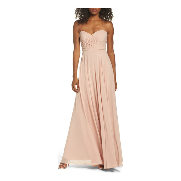 JENNY YOO adeline strapless chiffon gown - Layers of diaphanous chiffon shape the fitted,...