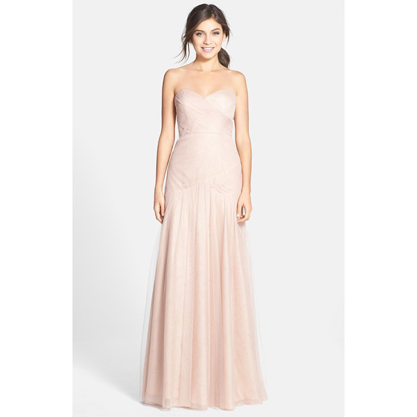 JENNY YOO ava cross paneled tulle gown - Tightly pleated panels meeting at the natural waist wrap...