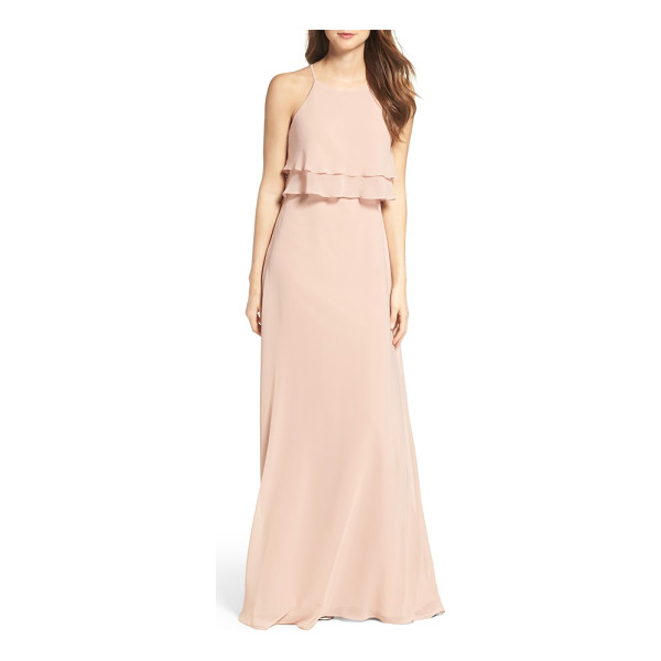 JENNY YOO charlie ruffle bodice gown - Sophisticated ruffles make an elegant appearance on a...