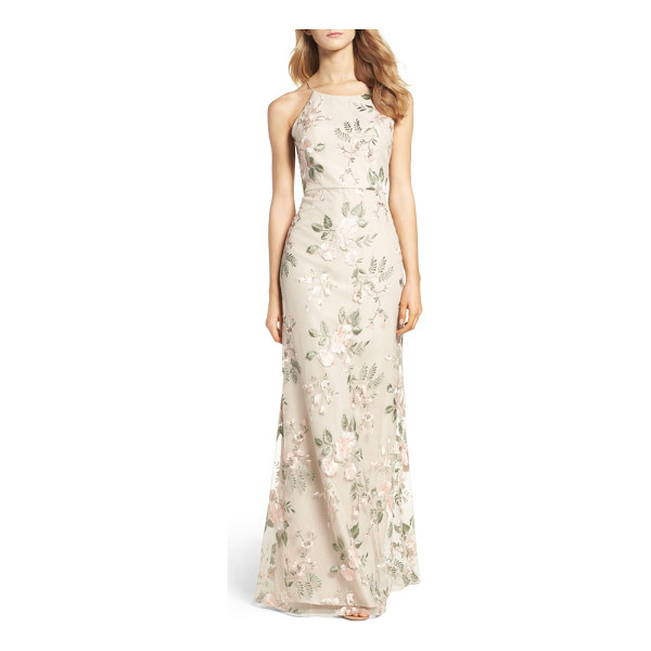 JENNY YOO claire floral embroidered gown - Textured with romantic floral embroidery, this refined...