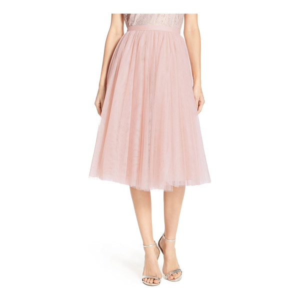 JENNY YOO lucy tulle skirt - An A-line skirt offers delightful flounce sewn from layers...