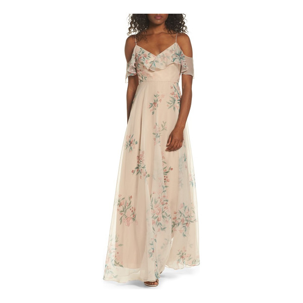 JENNY YOO mila off the shoulder gown - Match the romance of a very special day with a fluid...
