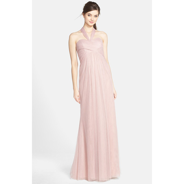 JENNY YOO willow convertible tulle gown - A crisscrossed sweetheart bodice atop a softly flowing...
