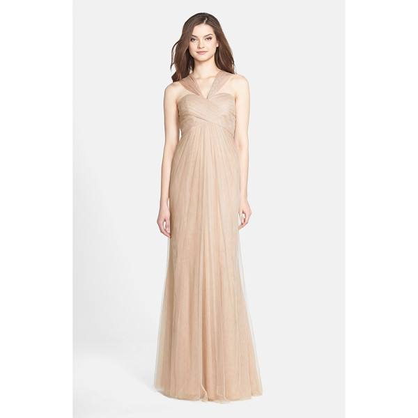 JENNY YOO 'willow' convertible tulle gown - A crisscrossed sweetheart bodice tops a softly flowing...