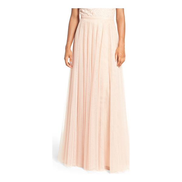 JENNY YOO 'winslow' long tulle a-line skirt - A banded waist and slim A-line cut flatter in a dreamy...