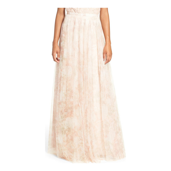JENNY YOO 'winslow' print tulle long a-line skirt - A banded waist and slim A-line cut flatter in a dreamy...