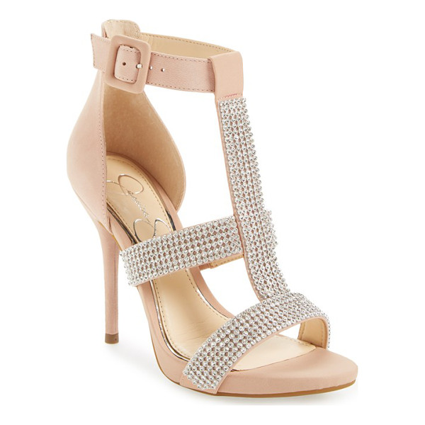 JESSICA SIMPSON barerra sandal - Sparkling crystals adorn the straps of a showstopping...