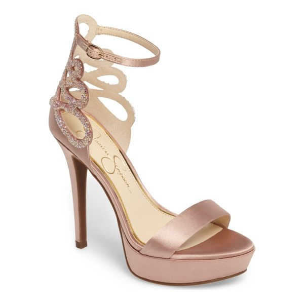 JESSICA SIMPSON bayvinn platform sandal - Dazzlng crystals highlight the gracefully looped back...