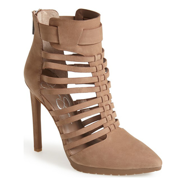 JESSICA SIMPSON berdet cage bootie - Slim wraparound straps create the caged silhouette of a...