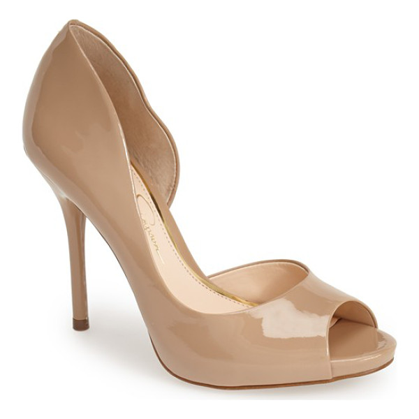 JESSICA SIMPSON bibi half dorsay pump - Go for daring style with this curvy half d'Orsay pump...