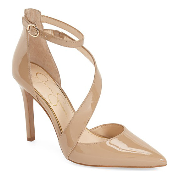 JESSICA SIMPSON castana pointy toe pump - Flattering and feminine, this pointy-toe pump boasts an...
