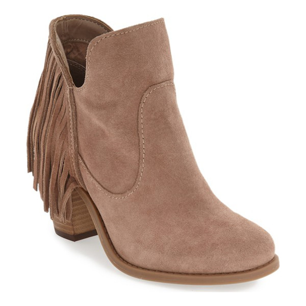 JESSICA SIMPSON 'cecila' fringe bootie - Long fringe extends the modern and on-trend style of a...