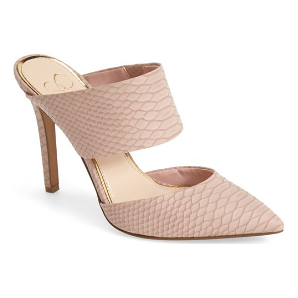 JESSICA SIMPSON chandra mule - A sleek mule featuring mod cutouts and an open-back...