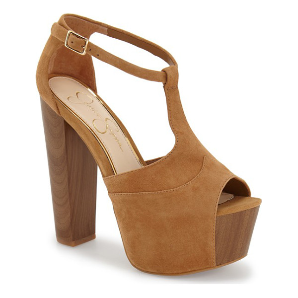 JESSICA SIMPSON dany sandal - Ultra-chunky wooden platform and heel provide bold...