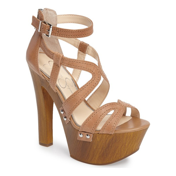 JESSICA SIMPSON dorrin platform sandal - An exaggerated rocker-inspired platform adds lift to an