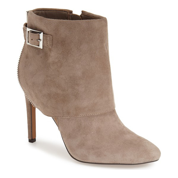 JESSICA SIMPSON dyers bootie - A bold cuff intensifies the casual sophistication of an...