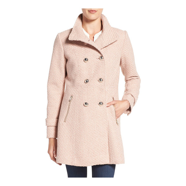 JESSICA SIMPSON fit & flare officers coat - The officers coat is commanding lots of attention this...