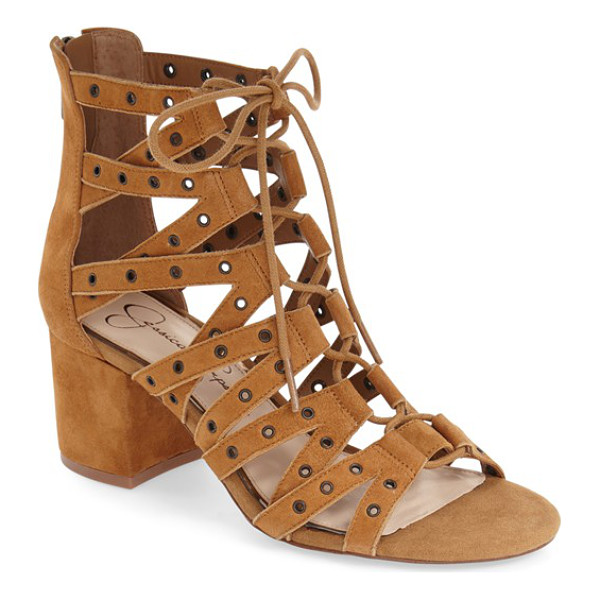 JESSICA SIMPSON 'haize' cage sandal - Polished grommets highlight the striking cage straps of a...