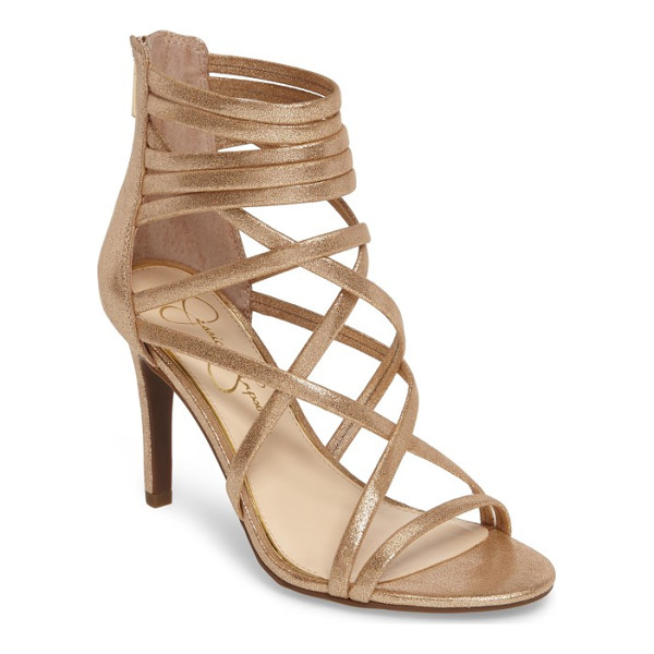 JESSICA SIMPSON harmoni sandal - Laddered and crisscrossed straps give interest to a...