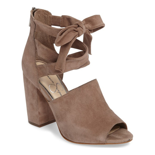 JESSICA SIMPSON kandiss sandal - Faux laces and a slim bow at the front define a trend-right...