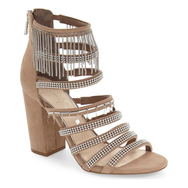 JESSICA SIMPSON 'katalena' sandal - Polished beads, dangling charms and chain-link tassels add...