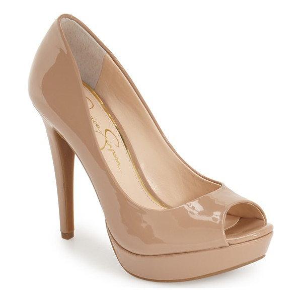 JESSICA SIMPSON kelli platform pump - A curvy topline accentuates the sultry appeal of this...
